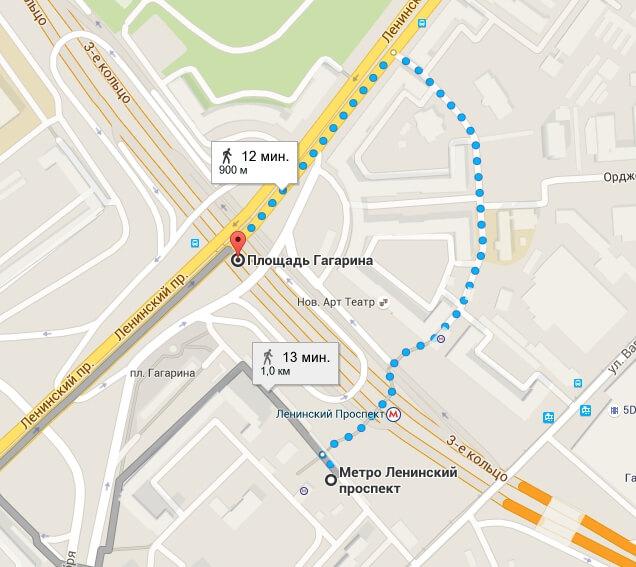 Схема маршрута 851 автобуса речной вокзал-шереметьево