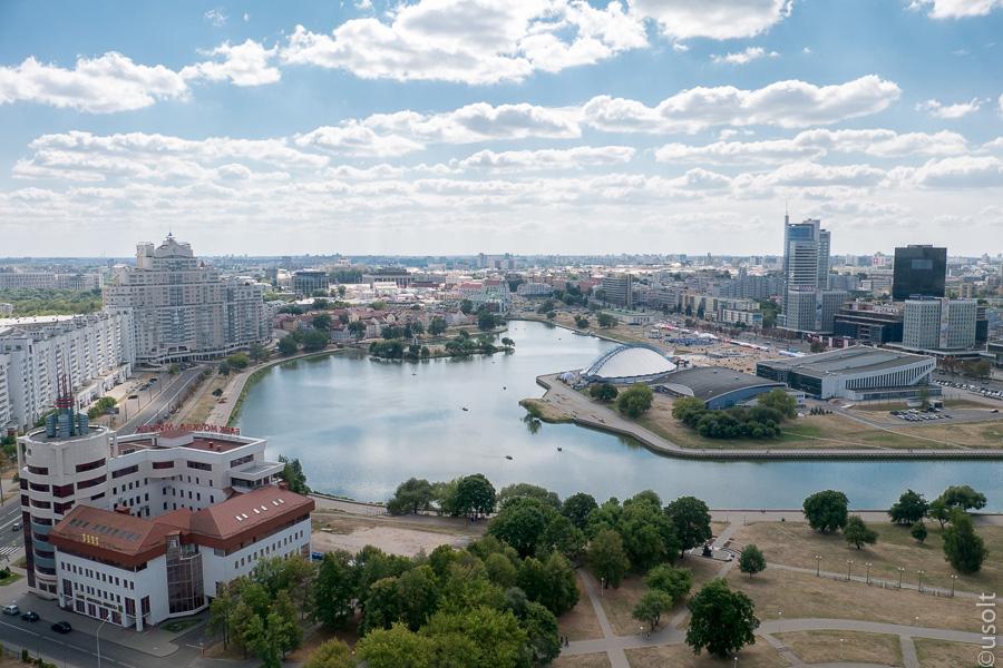 Смотровая площадка гостиницы Беларусь