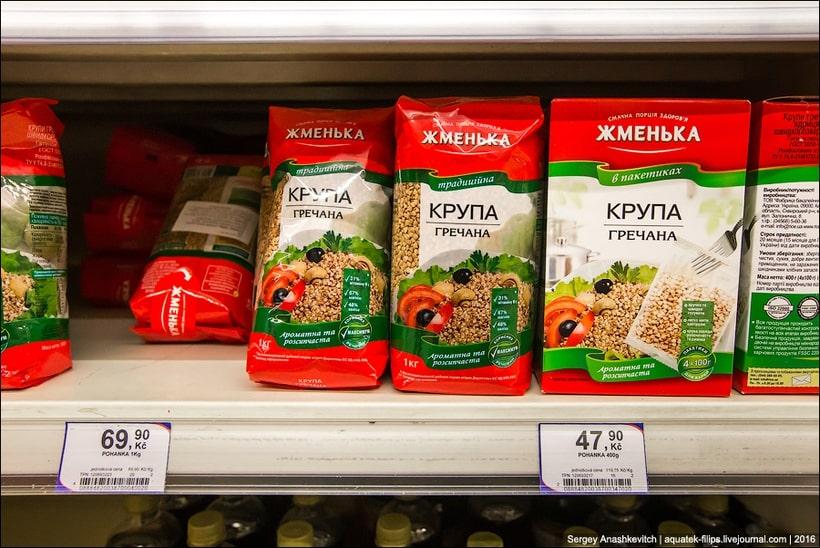 Гречка в супермаркете в Праге