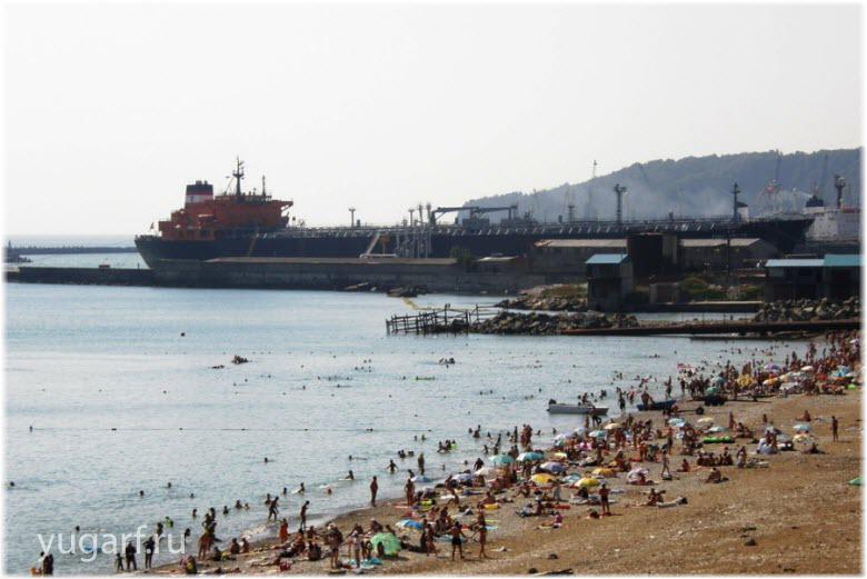 Центральный пляж Туапсе
