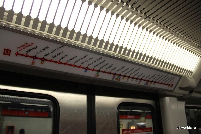 Индикатор станций в вагоне метро