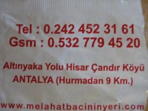 Адрес ресторана на дереве